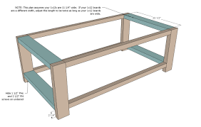 Build An Ottoman Cool Anna Coffee Table Instructions