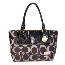 Coach Embossed In Signature Medium Coffee Totes BMT