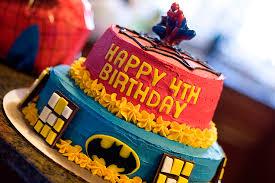 Superhero Birthday Cake With Sprinkles On Top