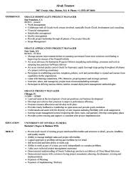 Project Manager Sample Resume Luxury Oracle Project Manager Resume