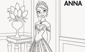 Small Picture Princess Frozen Anna Coloring Pages Womanmatecom
