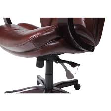 serta executive brown bonded leather big and tall office chair free today 16088991