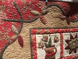 50 best Quilting-around appliqué images on Pinterest | Quilting ... & Mixing feathers, pebbles and straight line quilting Adamdwight.com