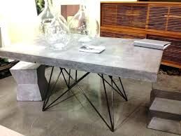 concrete top outdoor dining table fancy concrete top dining table image of concrete top dining table