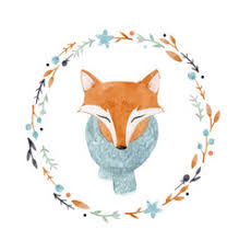 <b>Watercolor Fox</b> Vector Images (over 190)