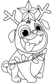 Click on a picture below to go to the printable puppy coloring. Christmas Puppy Coloring Pages To Print Coloring And Drawing