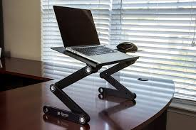 Laptop office desk Tablet Executive Office Solutions Portable Adjustable Aluminum Laptop Desk New York Magazine Best Laptop Stands Ergonomic Desk Setups From Chiropractors