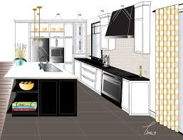 kitchen 1 point perspective. point perspective contemporary kitchen final rendering west elm rustic island stores full size 1