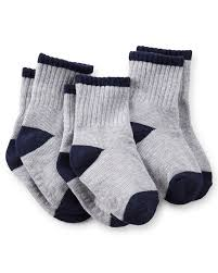 Carters Socks Size Chart 3 Pack Ribbed Crew Socks Carters Com