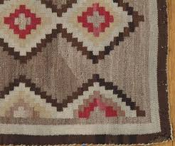 hand knotted antique navajo rug handmade wool oriental rug beige and brown for