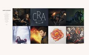 Art Portfolio Website Design Artstation Web Design Projects Carys Rohan Anor