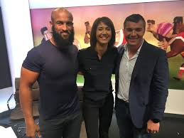 Who's for some rugby league chat? Jamie Jones-Buchanan and Iestyn  Harris are guests on the Super League Show - NOW!   BBC Sport