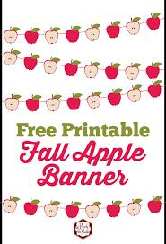 Free Apple Fall Banner Printable