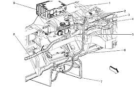 looking for the dash wiring harness diagram for a 01 gmc sierra do you see the wiring in the following illustration are one of these where the harness was cut if so which area