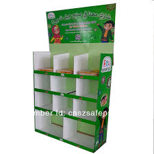 Mobile Phone Case Display Stand Simple Corrugated Cardboard Supermarket Floor Display Standcell Phone Case