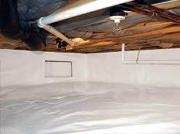crawl space vapor barrier material. Interesting Space A Durable White Moisture Barrier Installed In A Crawl Space In Crawl Space Vapor Barrier Material E