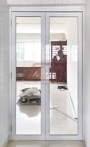 bi fold doors central aluminium glass