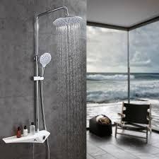 Pst At Duschsystem Chrom Design Mit Drei Funktion Wasserfluss