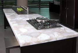 White Quartz Kitchen Island Modern Kitchen New York By Zicana