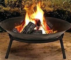 cast iron outdoor fire pit bowl round patio extra large cooking accessories