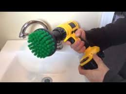 scrub brush for sink and bathroom tile scrubbing rotary scrub bit you