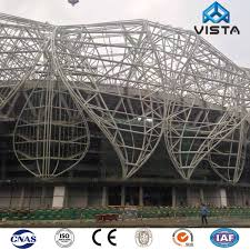Coastal Iron Design Hot Item Excellent Strength Weight Ratio New Design Coastal Hot Dip Galvanized Grid Steel Structures Frame Hotel Office Warehouse Exhibition Hall