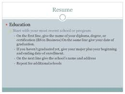 Resume 101 Resume Why Do I Need A Resume A Resume Is Your