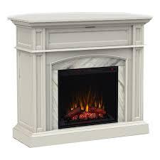 Scott Living 46.5-in W 5100-BTU White Wood Corner Or Flat Wall Infrared