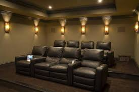 movie room lighting. Home Theater Wall Sconces Design With Lights Fixtures Plus Black Leather Sofa Movie Room Lighting E