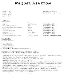 Theatrical Resume Template Magnificent Free Acting Resume Template Mensrepublic
