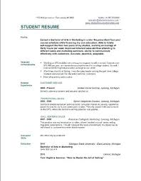 College Resume Builder 2018 Extraordinary Example Of Simple Resume Format Resume Example For College Student