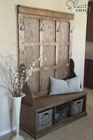 Old Door Coat Rack And Bench Extraordinary Shanty Hall Tree Bench Tree Bench DIY Furniture And Bench
