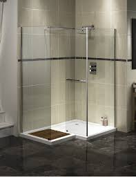Bathroom:Walk In Shower Small Bathroom Design Idea L Shaped Glass Shower  Screen Small Walk