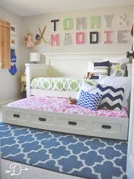 shared bedroom furniture. boy and girl shared bedroom diy daybed with trundle dear dawson furniture u