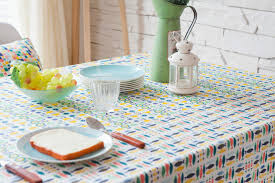 classical checked dining table cloth multi rustic style tree leave design cotton linen table cloth for home dinin