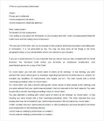 Employment Termination Letter Template Employee The Is A Ideas Form ...