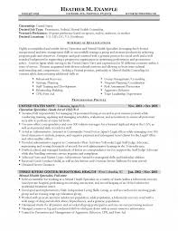 Mental Health Specialist Resume