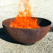 diy fire bowl fire pit metal bowl artistically crafted wrought iron fire pit the big bowl diy fire bowl fire pits