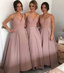 Light Pink Bridesmaid Dresses Long Glamorous Light Pink Blush Bridesmaid Dresses Long Beaded