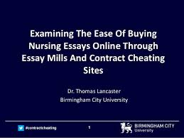 cheating essay examining the ease of buying nursing essays online through essay mill contractcheating examining