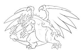 Free Coloring Pages Pokemon Charizard Card X Legendary Colo Mega
