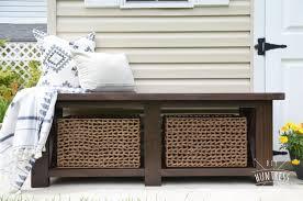 bench with shelf. DIY Rustic X Bench With Shelf