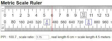 Metric Scale Ruler Online Mm Cm Km