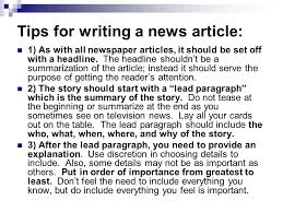 Writing A Newspaper Article How To Write A Newspaper How To Write A Newspaper Article