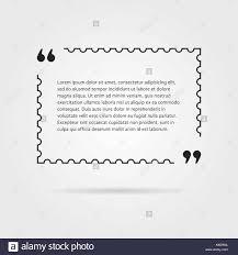 Citation In Thin Line Postage Stamp Stock Vector Art Illustration