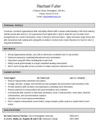 Online Travel Agent Sample Resume Travel Agent Resume Examples