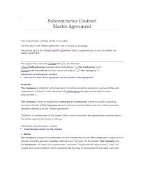 Subcontractor Contract Template New Need A Subcontractor Agreement 44 Free Templates HERE