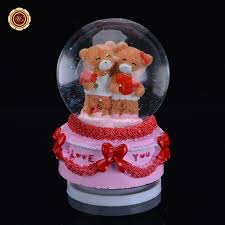 office valentine gifts. WR Wholesale Gifts Snow Crystal Ball Birthday Party Decor Best Love Valentine Ideas Unique Home Office Ornaments 8X8X11cm-in Figurines \u0026 Miniatures From