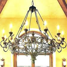 round wrought iron chandelier marvelous rustic wood and black with shades