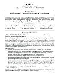 Resume Samples For Marketing Putasgae Info